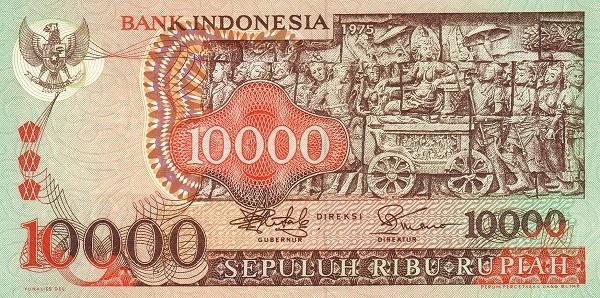 Indonesia 10000 Rupiah (1975-2)