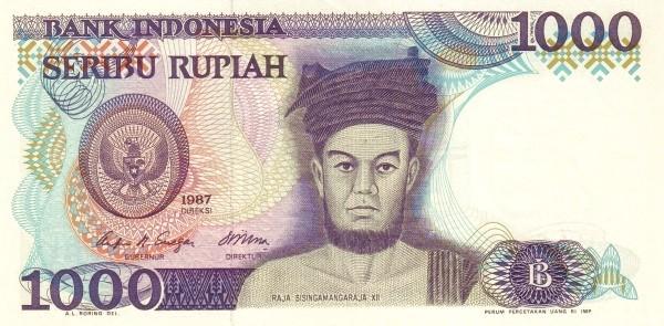 Indonesia 1000 Rupiah (1984-1988)