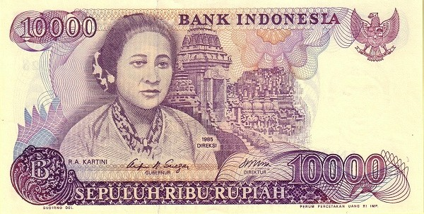 Indonesia 10000 Rupiah (1984-1988)