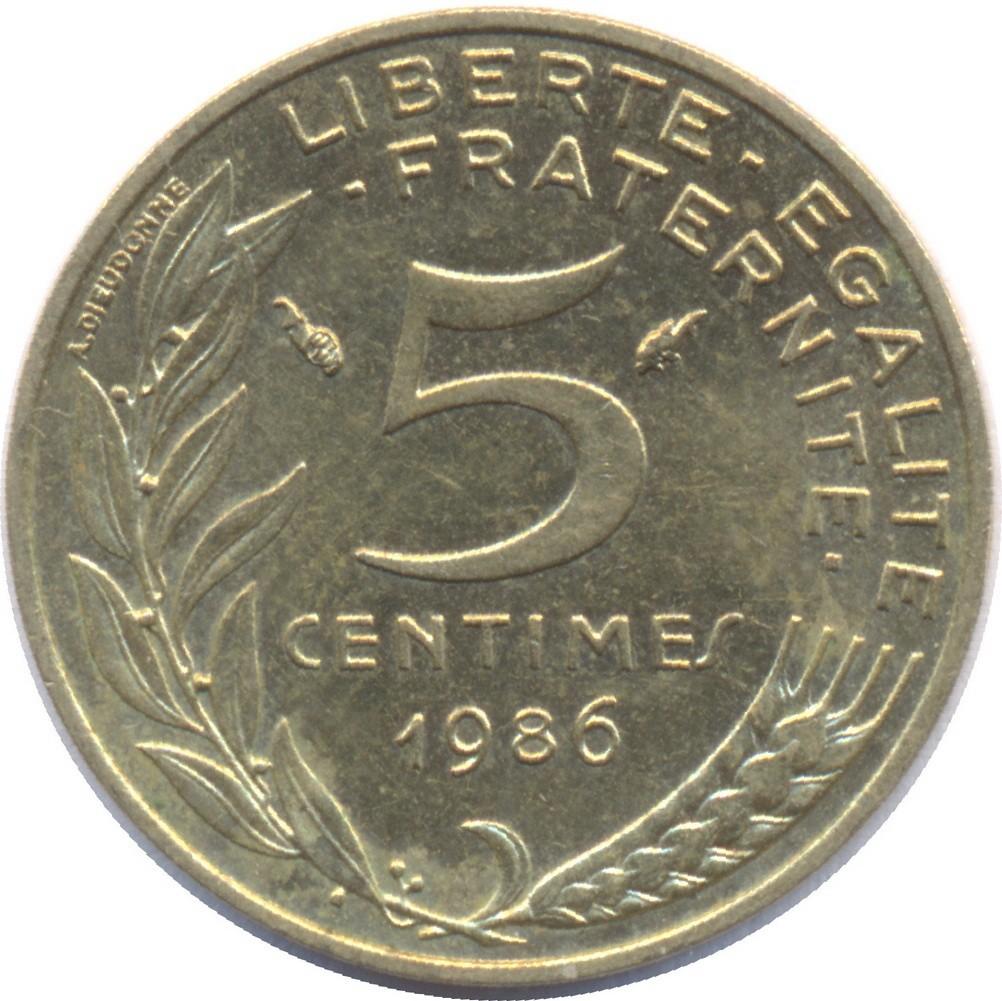 France 5 Centimes (1966-2001)
