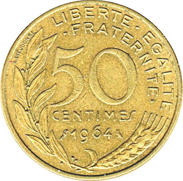 France 50 Centimes (1962-1964)
