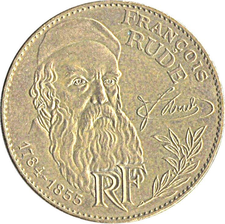 France 10 Francs (1984 François Rude Commemorative Coin)
