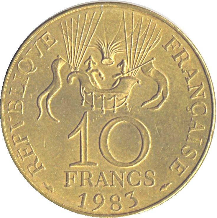 France 10 Francs (1983 Space Conquest Commemorative Coin)