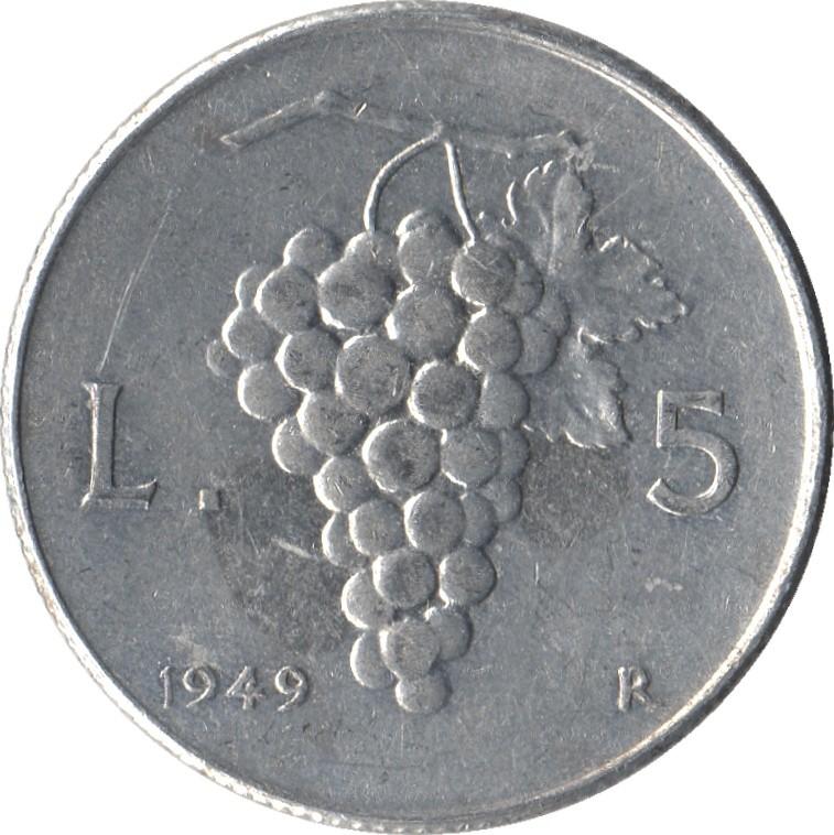 Italy 5 Lire (1946-1950)