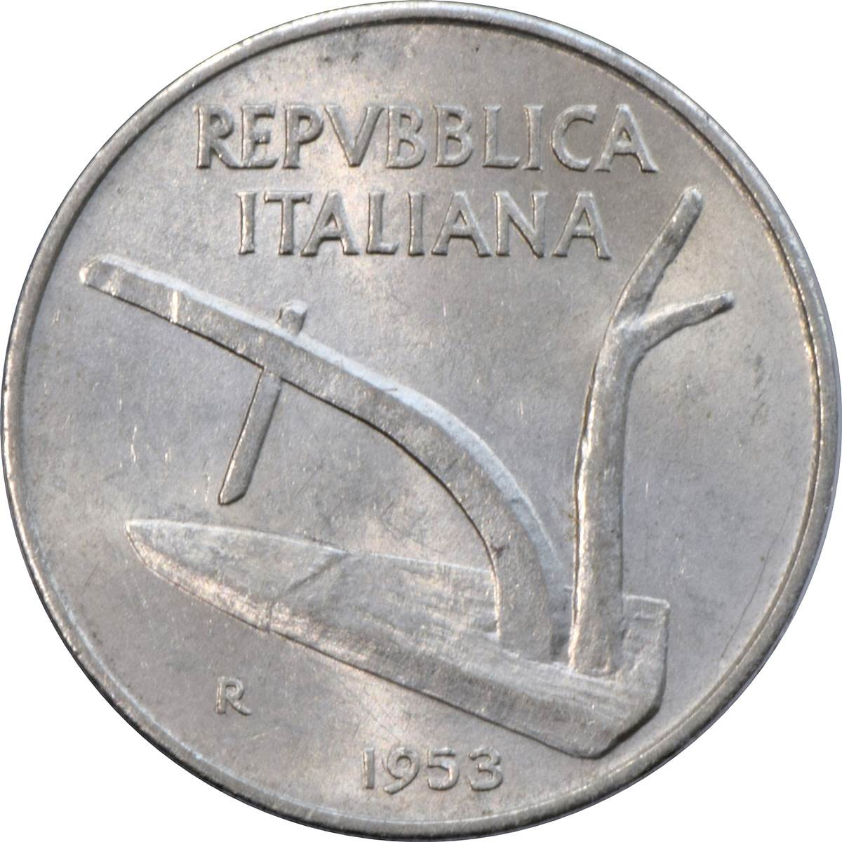 Italy 10 Lire (1951-2001)