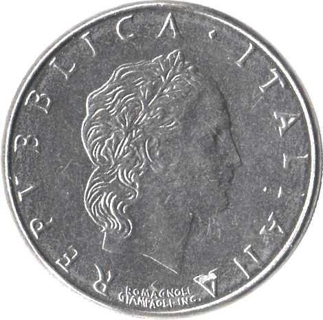 Italy 50 Lire (1954-1989 Large Type)