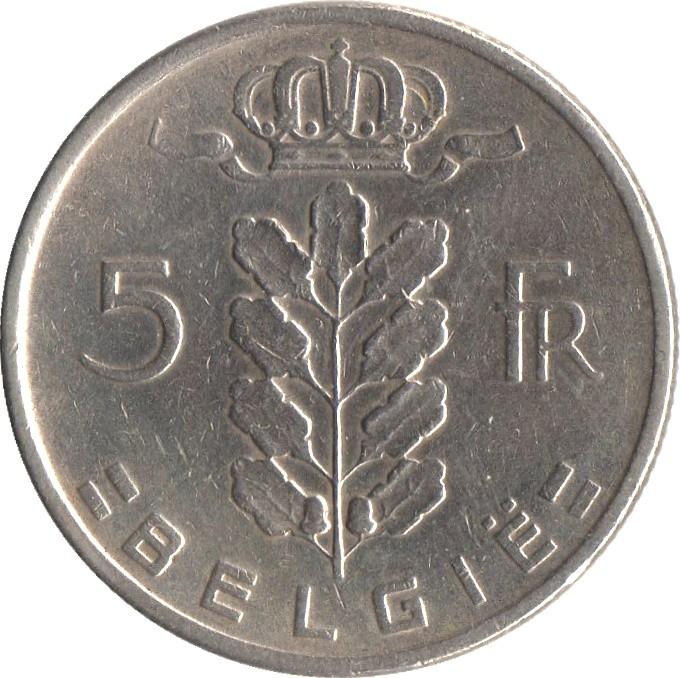 Belgium 5 Francs (1948-1981 Baudouin I)