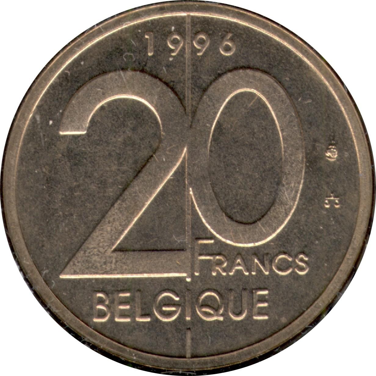 Belgium 20 Francs (1994-2001 Albert II)