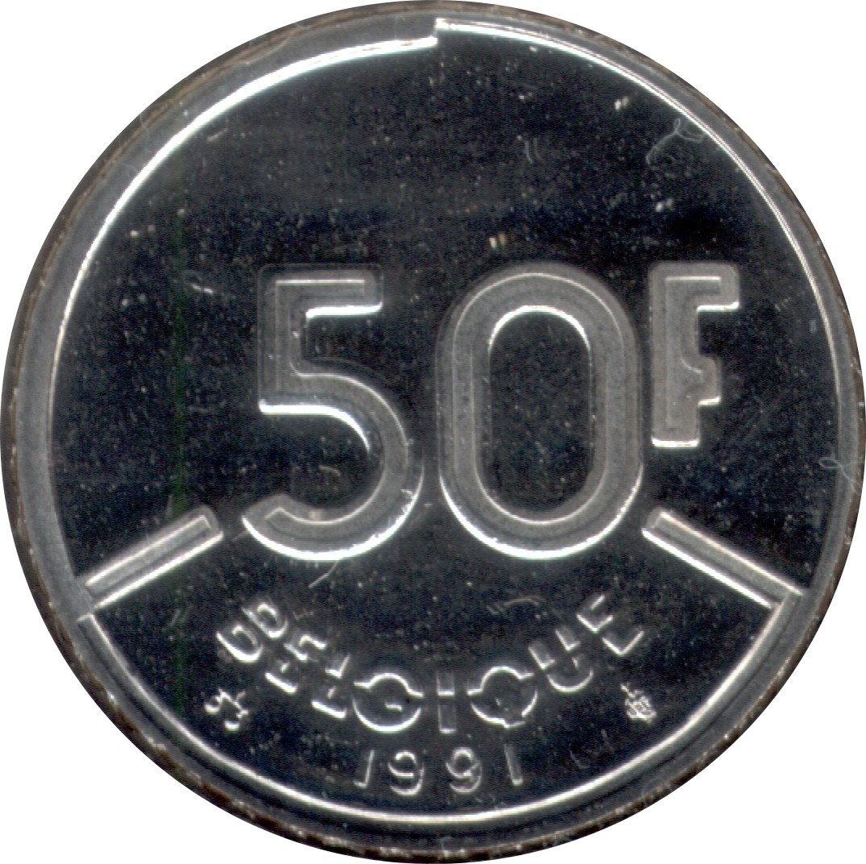 Belgium 50 Francs (1987-1993 Baudouin I)