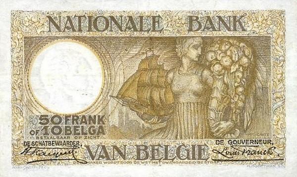 Belgium 50 Francs (1927-1942 Banque Nationale-2)