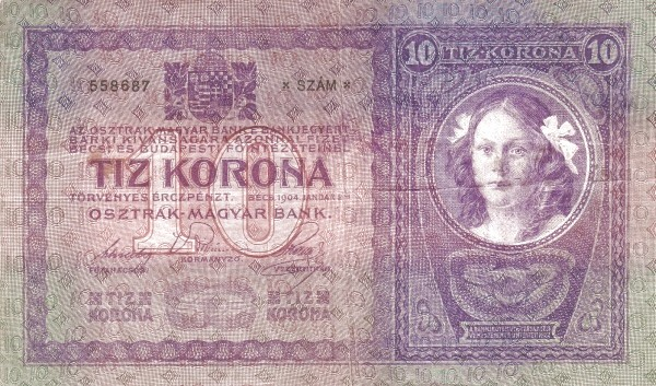 Yugoslavia 10 Kruna (1919 Adhesive Stamps Austro-Hungarian Kronen)