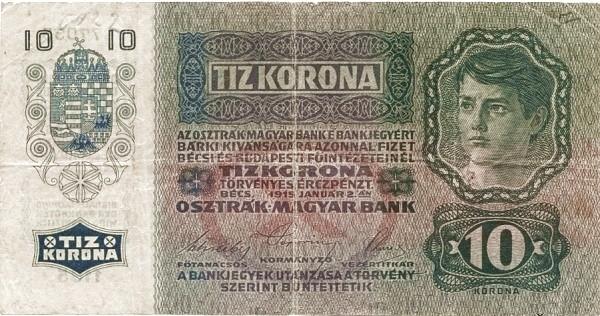 Yugoslavia 10 Kruna (1919 Adhesive Stamps Austro-Hungarian Kronen-2)