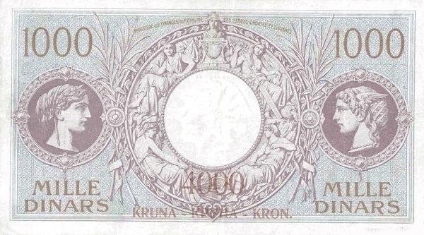 Yugoslavia 4000 Kruna  (1919 Kruna Overprint)