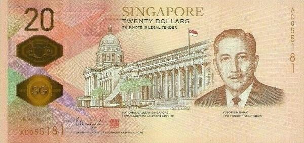 Singapore 20 Dollars (Bicentennial of Singapore 1819 - 2019)