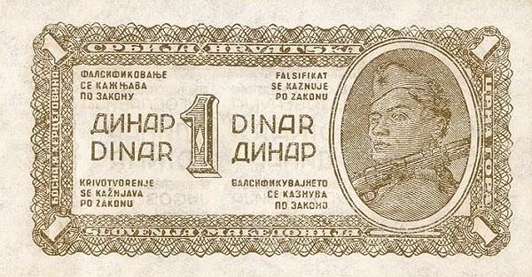 Yugoslavia 1 Dinar (1944 Partisan Republic)