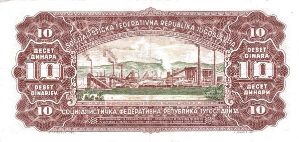 Yugoslavia 10 Dinara (1965 Republic)