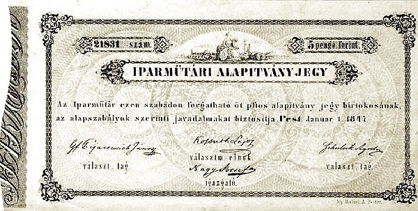 Hungary 5 Pengő Forint (1847 Austrian Administration)