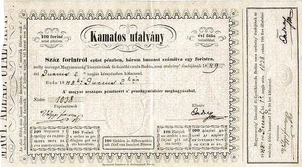 Hungary 100 Forint (1848 Austrian Administration-2)