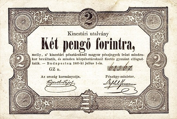 Hungary 2 Pengő Forint (1849 Insurrection, Foreign Issues & Sieges)