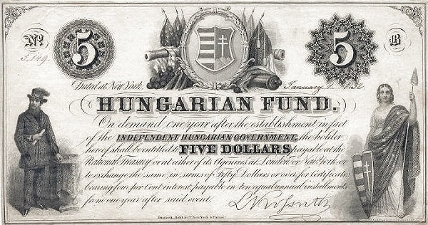 Hungary 5 Dollars (1852 Insurrection, Foreign Issues & Sieges)
