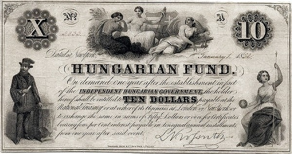 Hungary 10 Dollars (1852 Insurrection, Foreign Issues & Sieges)