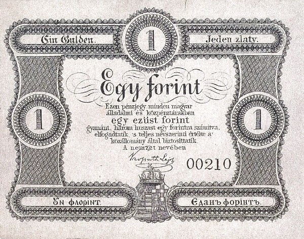 Hungary 1 Forint (1860-1861 Insurrection, Foreign Issues & Sieges)