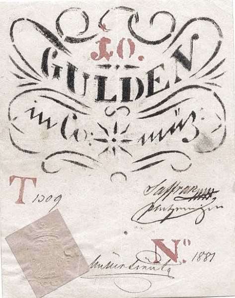 Hungary 10 Gulden (1849 Insurrection, Foreign Issues & Sieges)