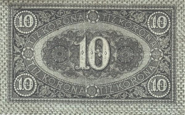 Hungary 10 Korona (1919 Second POSTATAKARÉKPÉNZTÁR)
