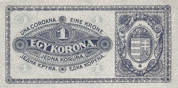 Hungary 1 Korona (1920-1922 PÉNZÜGYMINISZTÉRIUM)