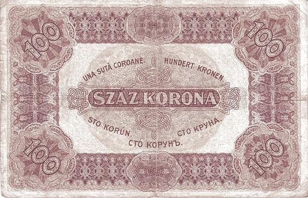 Hungary 100 Korona (1920-1922 PÉNZÜGYMINISZTÉRIUM)