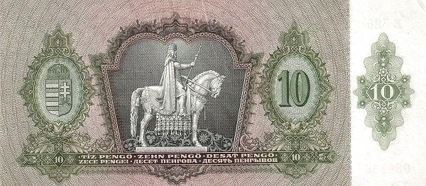 Hungary 10 Pengő (1936 MAGYAR NEMZETI BANK)