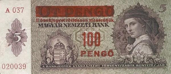 Hungary 100 Pengő (1939 MAGYAR NEMZETI BANK)