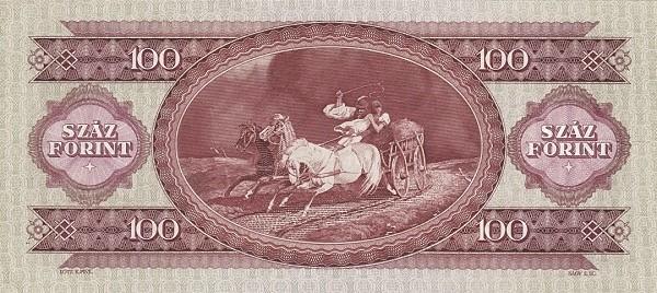 Hungary 100 Forint  (1949-1951 MAGYAR NEMZETI BANK)