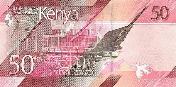 Kenya 50 Shillings (Green Energy) 2019