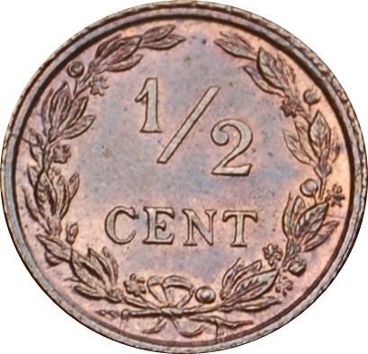 Netherlands ½ Cent  (1903-1906 Wilhelmina)