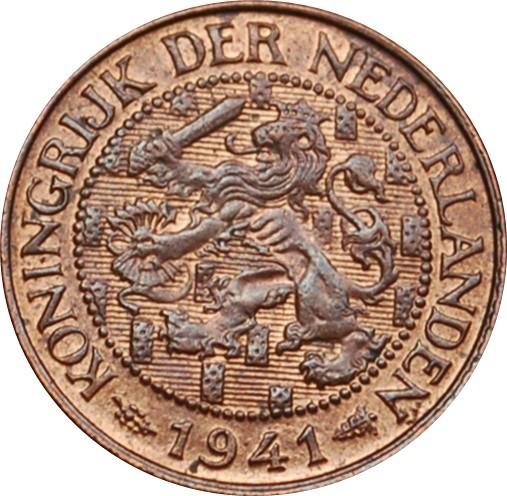 Netherlands 1 Cent  (1913-1941Wilhelmina)