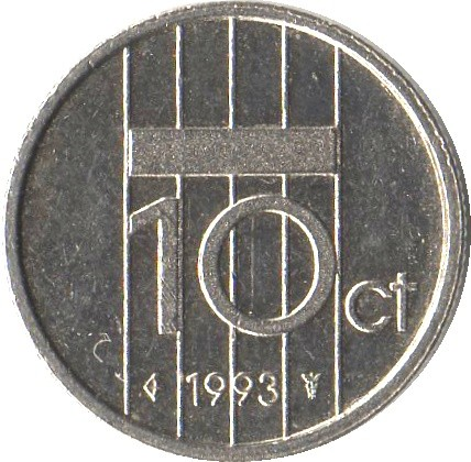 Netherlands 10 Cents (1980-2001 Beatrix)