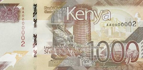 Kenya 1,000 Shillings (Governance) 2019