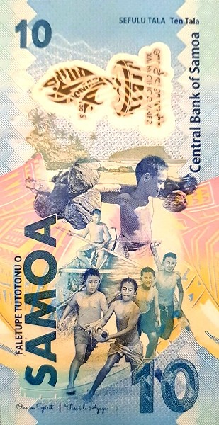 Samoa 10 Tala (XVI Pacific Games in Samoa)