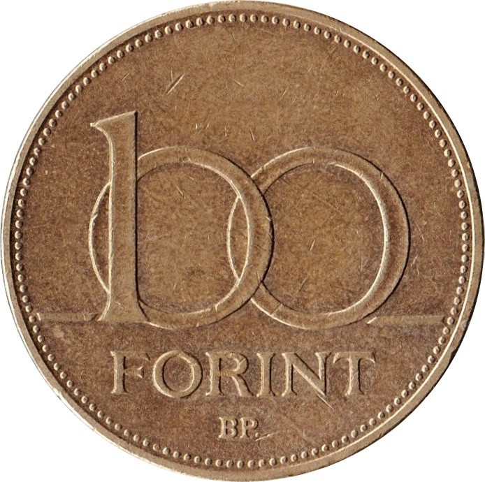 Hungary 100 Forint (Large size bronze)