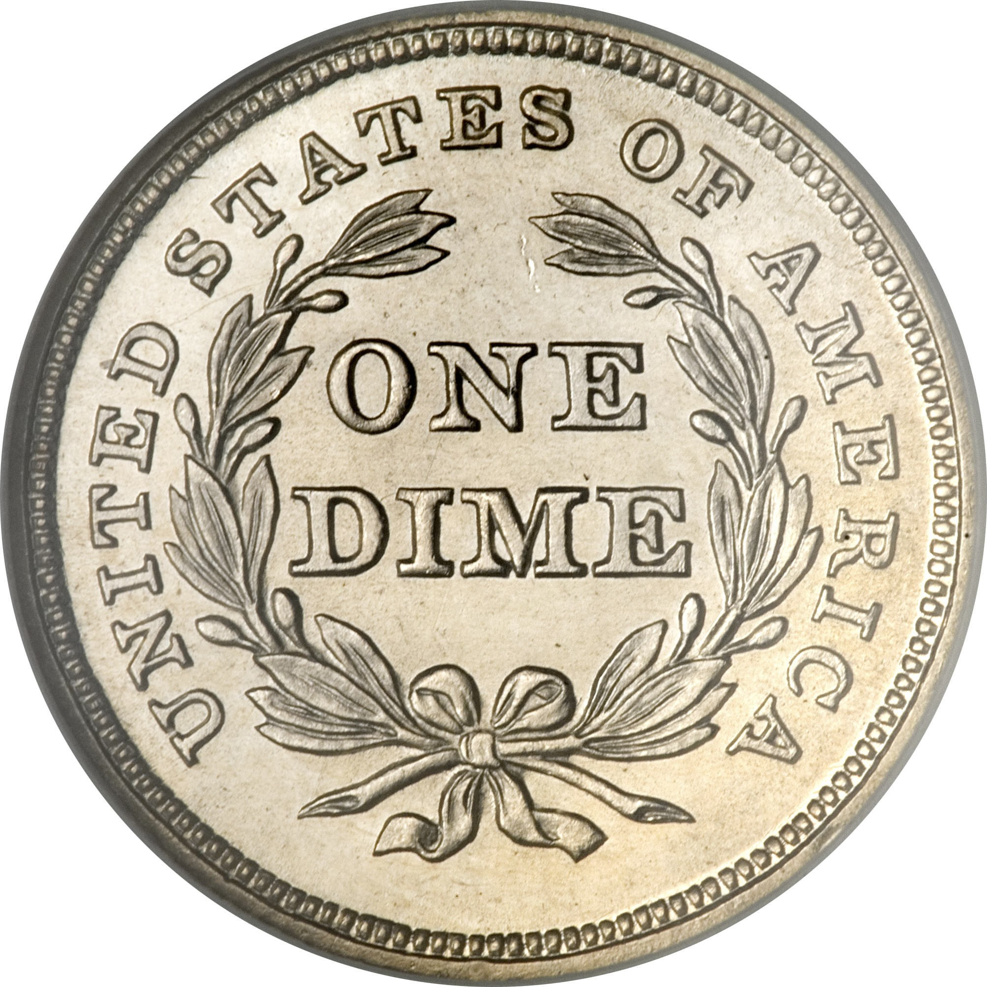 United States 1 Dime (1837-1838 Seated Liberty Dime-No Stars Around Rim)