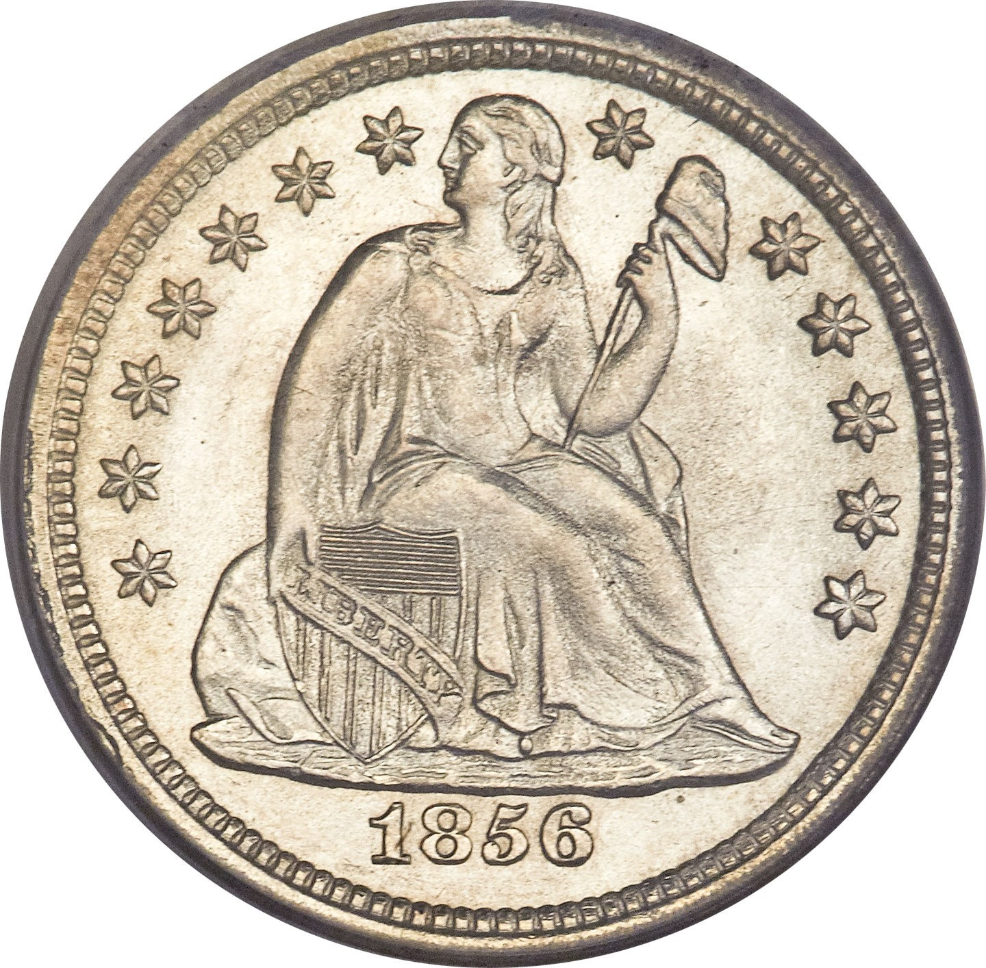 United States 1 Dime (1837-1838 Seated Liberty Dime-With Stars, No Arrows)