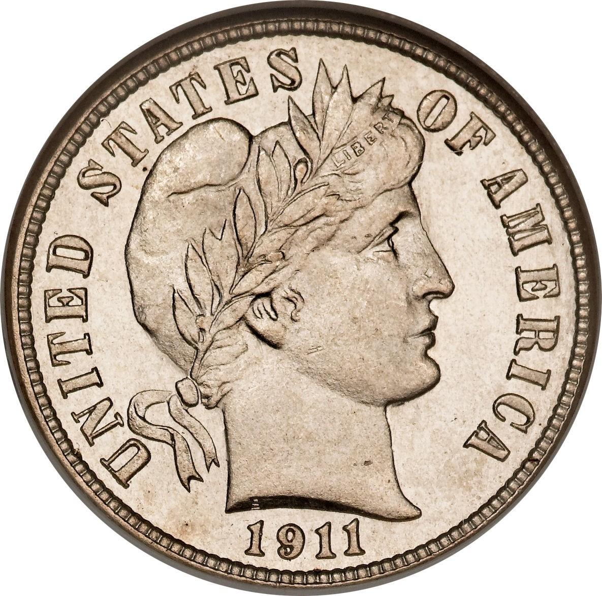 United States 1 Dime (1892-1916 Barber Dime)
