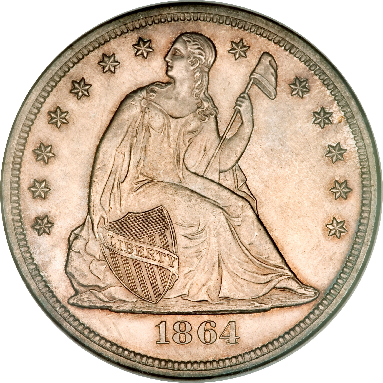 United States 1 Dollar (1849-1866 Seated Liberty)