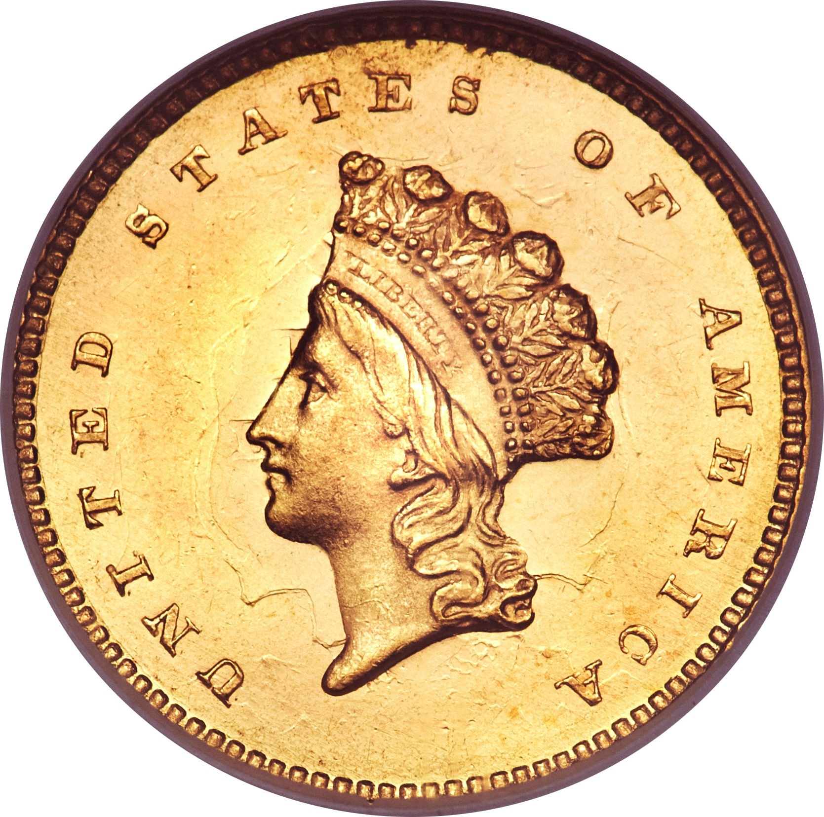 United States 1 Dollar (1854-1856 Small Indian Head)
