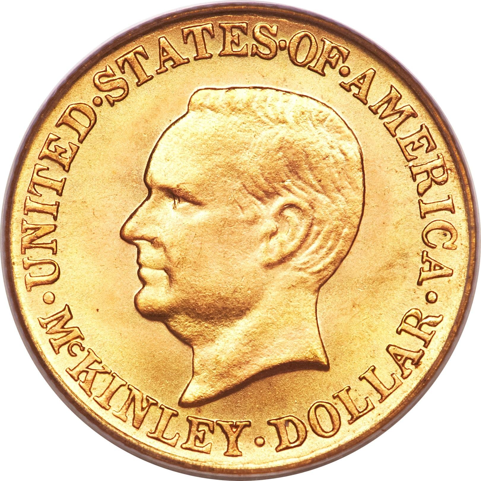 United States 1 Dollar (1916-1917 McKinley Birthplace Memorial)