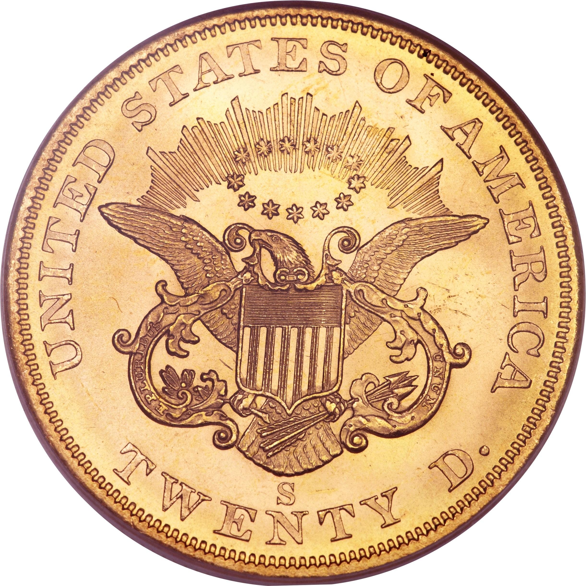 United States 20 Dollars (1849-1866 Liberty Head - Double Eagle)
