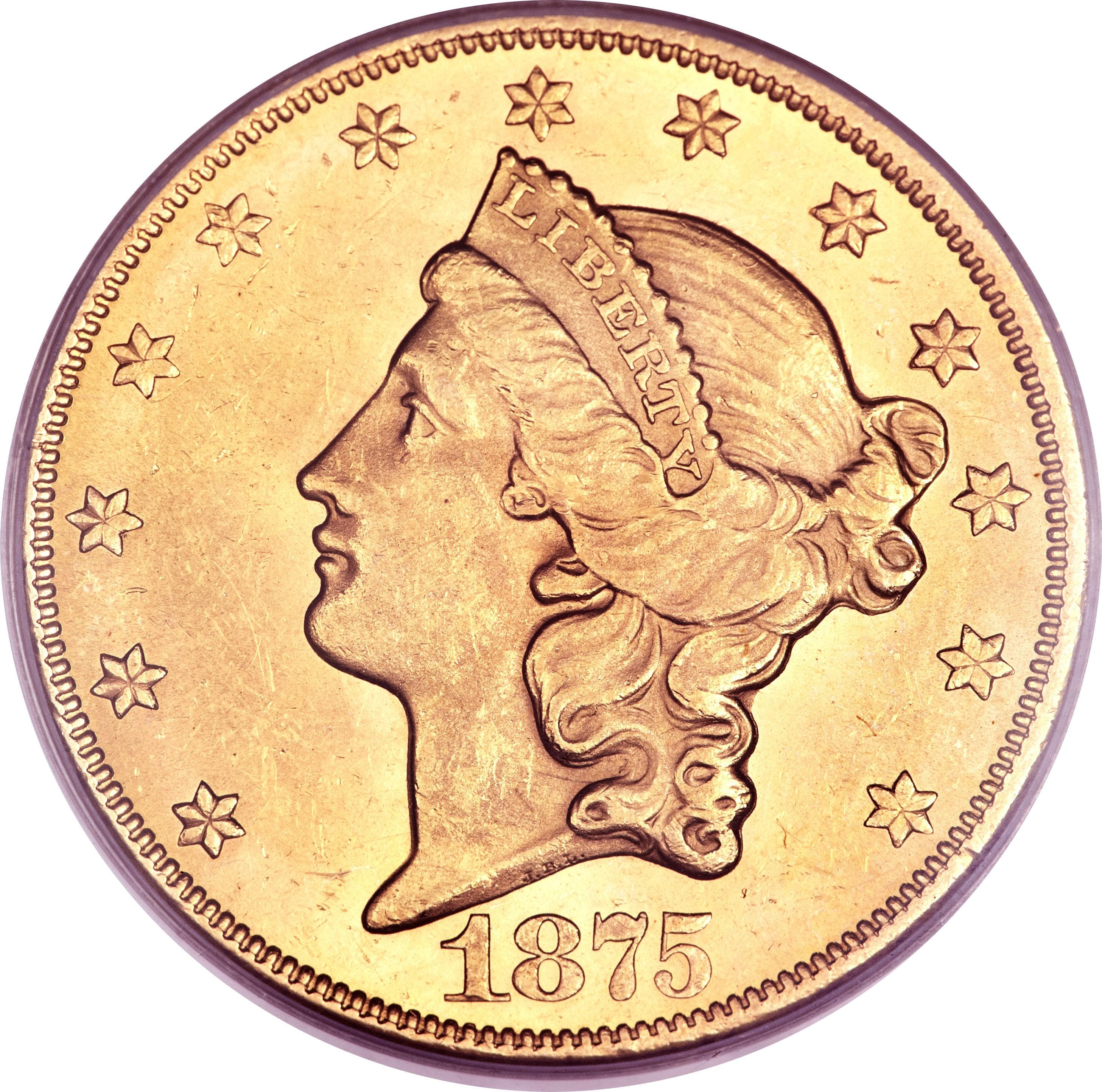 United States 20 Dollars (1866-1876 Liberty Head - Double Eagle)