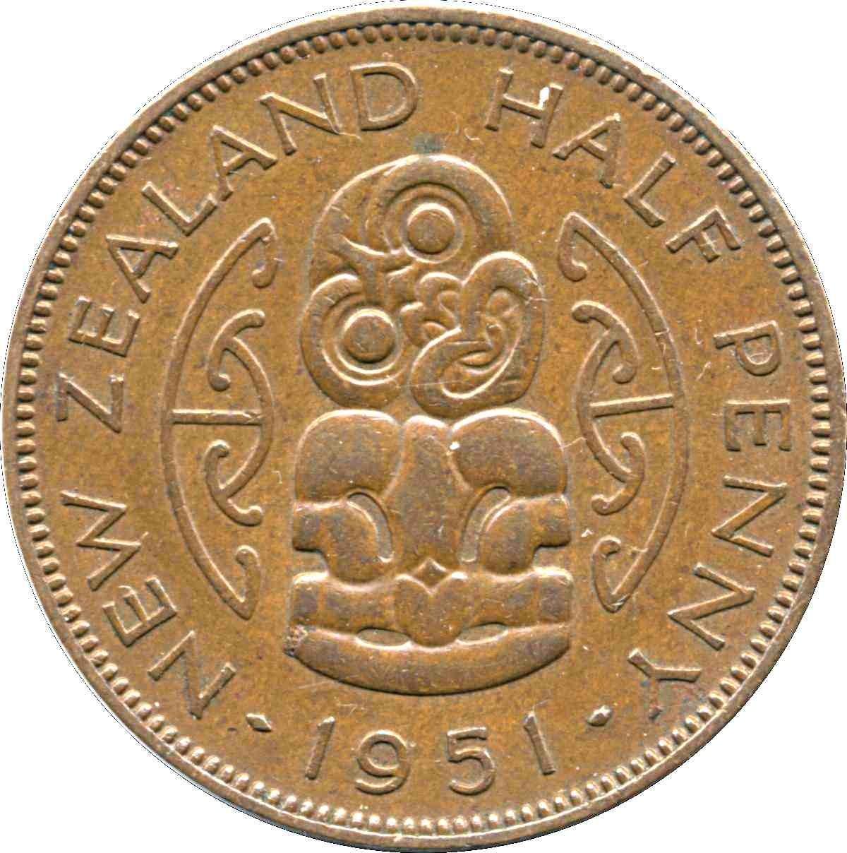 New Zealand ½ Penny (1949-1952 George VI)