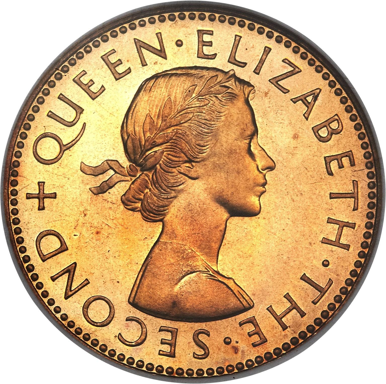 New Zealand ½ Penny (1953-1965 Elizabeth II)